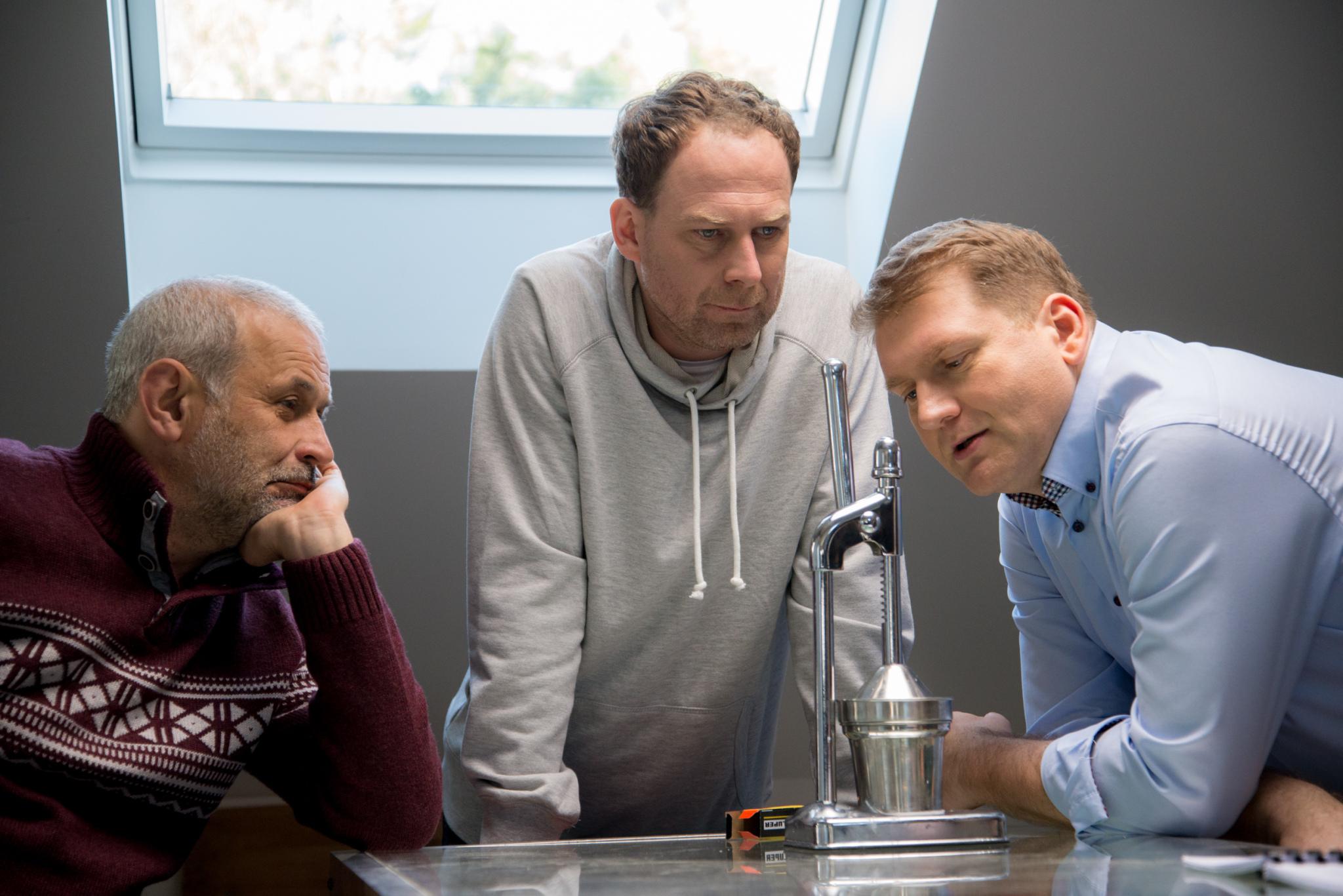 Krzysztof Stelmaszyk (Karol), Marcin Perchuć (Michał) i Mirosław Kotowicz (Czarek)
